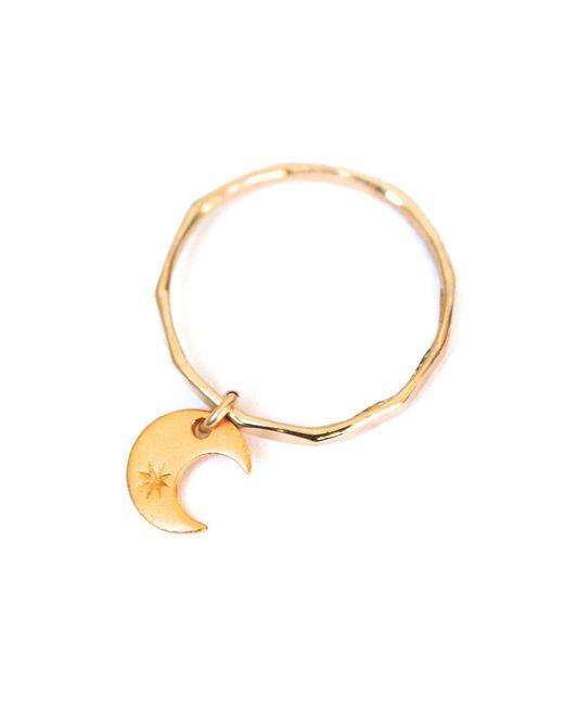 Forever 21 | Metallic Amarilo Crescent Dangle Ring | Lyst