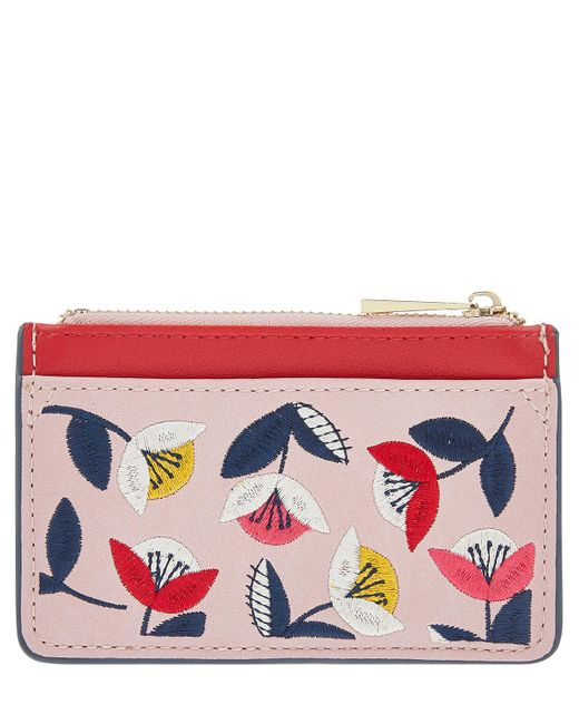 Accessorize - Pink Retro Floral Ziptop Card Holder - Lyst
