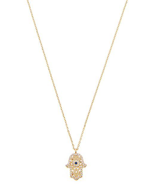 Accessorize - Metallic Sparkle Hamsa Pendant Necklace - Lyst