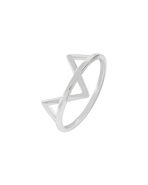Accessorize - Metallic Sterling Silver Dipped Geo Fox Ring - Lyst