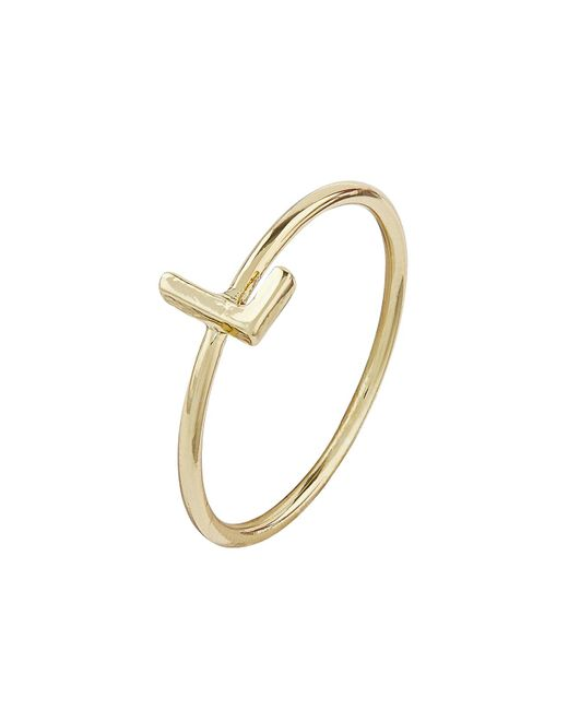 Accessorize | Metallic Gold Plated Initial Ring L | Lyst