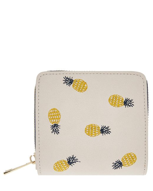 Accessorize - Natural Pineapple Embroidered Small Wallet - Lyst