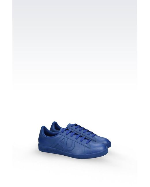 armani jeans sneaker in blue for men lyst. Black Bedroom Furniture Sets. Home Design Ideas