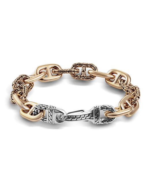 John Hardy | Metallic Men's Bronze/silver Carved-link Bracelet for Men | Lyst