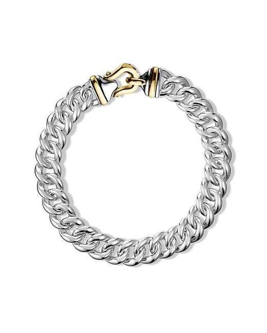 David Yurman | Metallic Buckle Chain Necklace With Gold | Lyst