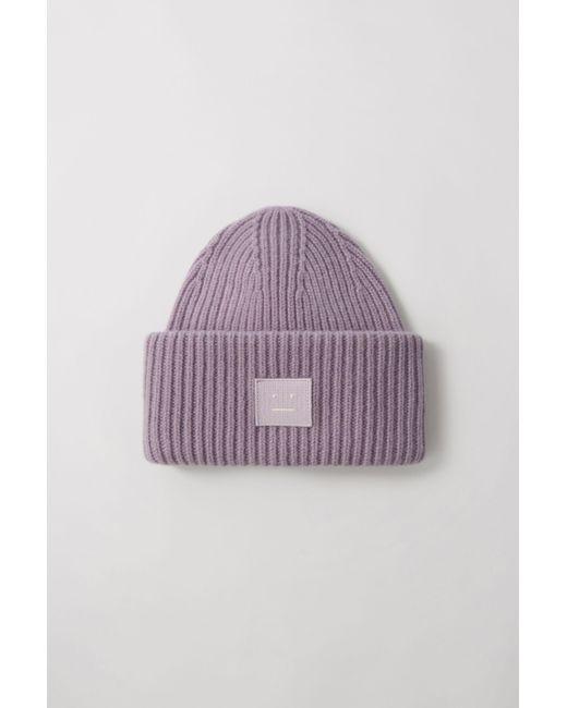 94fc1d306af173 Acne Studios Pansy N Face Mauve Purple Oversized Beanie in Purple ...