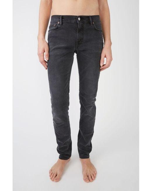 Acne - Black Slim Leg Jeans for Men - Lyst