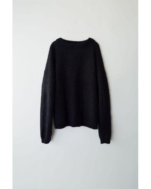 44d117aabf83 Acne Studios Dramatic Moh Black Oversized Sweater in Black - Lyst