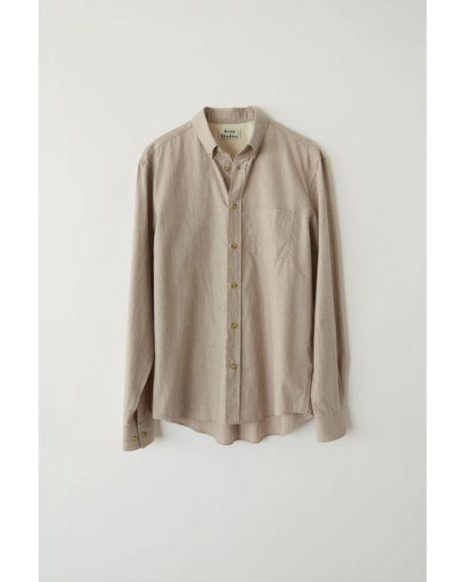 21e2fd978d Acne - Fn-mn-shir000041 Powder Pink Button Collar Shirt for Men - Lyst ...