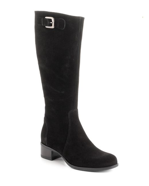 la canadienne suede boots in black save 19