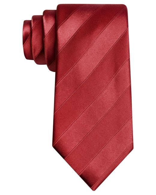 Sean John | Red Wilson Solid Stripe Tie for Men | Lyst