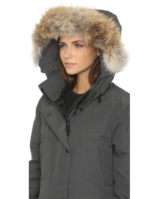Canada Goose | Gray Shellburne Coyote Fur Trim Parka | Lyst