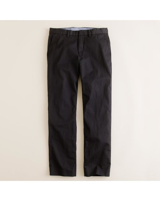 J.Crew | Black Bowery Slim Pant In Cotton Twill for Men | Lyst