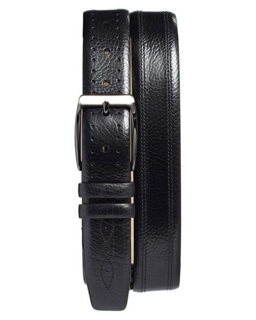 Mezlan | Black 'perseo' Leather Belt for Men | Lyst