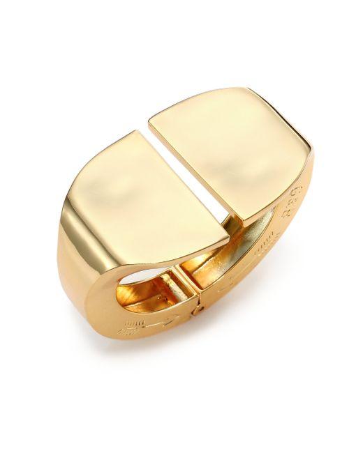 Giles & Brother | Metallic Stirrup Cuff Bracelet/Goldtone | Lyst