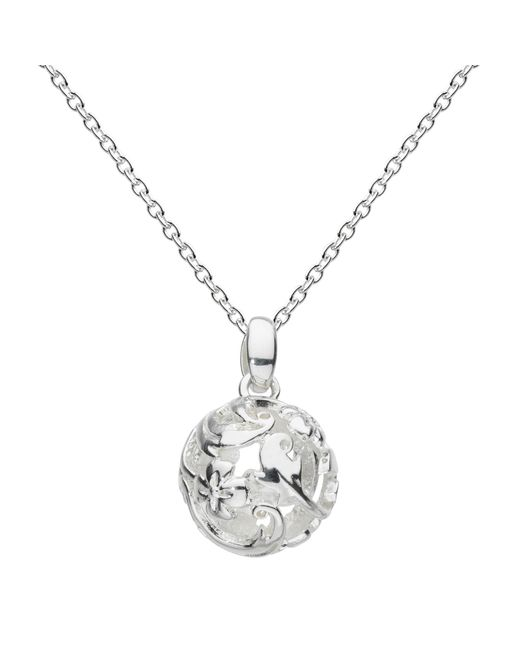Kit Heath | Metallic Sterling Silver Carved Ball Pendant | Lyst