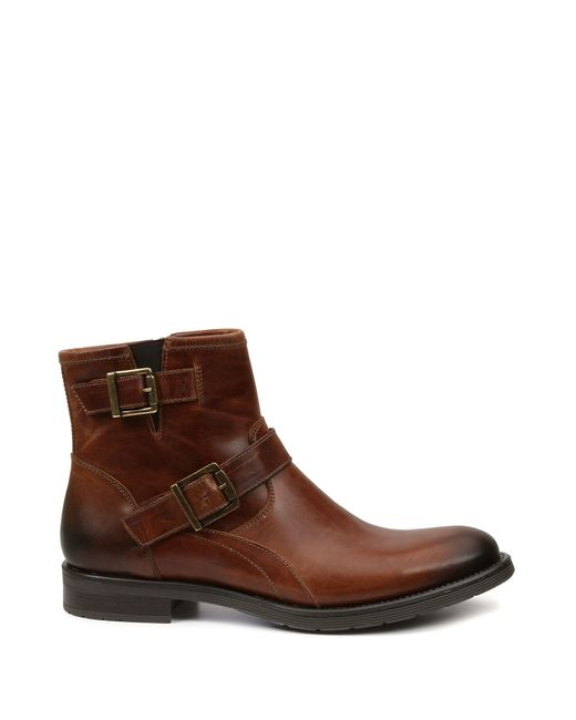 gbx leather ankle boots in brown for lyst