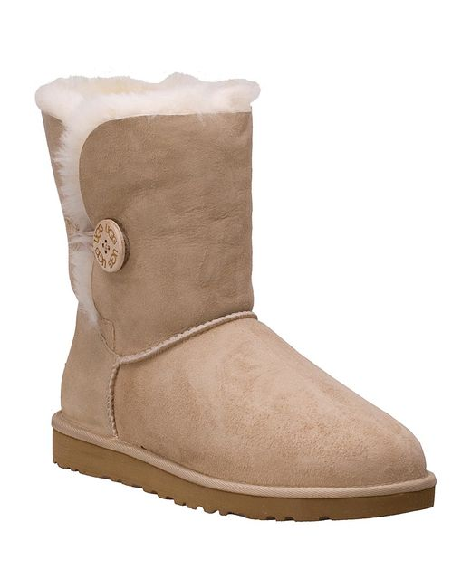 ugg bailey button sand sheepskin boots in beige sand save 36 lyst. Black Bedroom Furniture Sets. Home Design Ideas