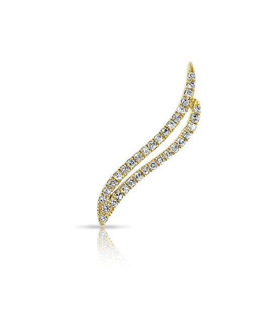 Anne Sisteron | Metallic 14kt Yellow Gold Diamond Flame Ear Climber | Lyst