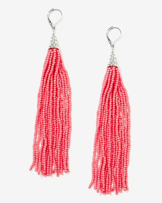 Addition Elle - Multicolor Seed Bead Tassel Earrings - Lyst