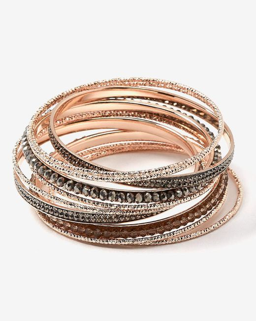 Addition Elle - Metallic Multiple Bangles - Lyst