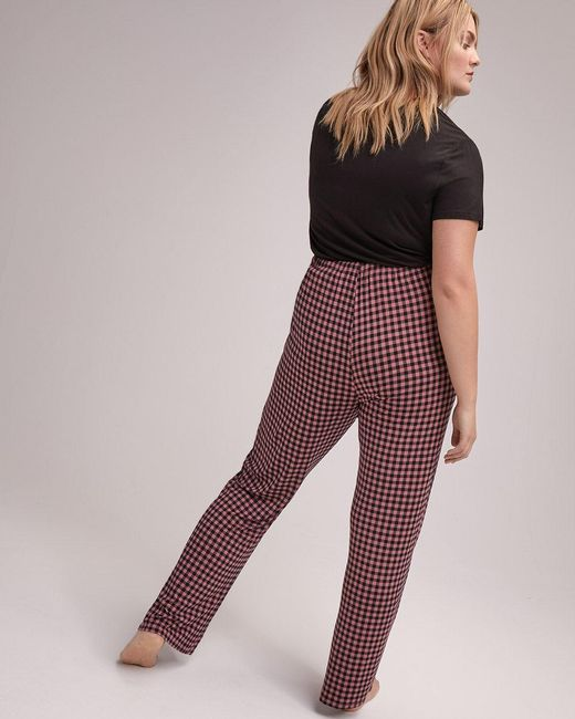 ... Addition Elle - Black Straight Leg Pajama Pant - Déesse Collection -  Lyst ... 35960f8a6