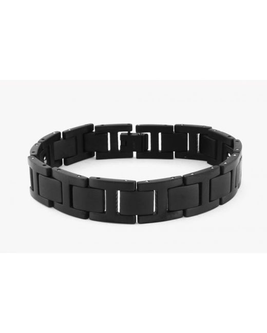 Tateossian | Magnetic Balance Bracelet In Black Ip Plated Titanium With Germanium Stones for Men | Lyst