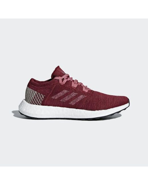 7d372f030 ... coupon code for adidas red pureboost go shoes for men lyst fa6fb 3c1ee