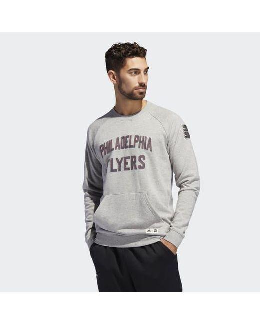 Adidas - Gray Flyers Fleece Crew Sweatshirt for Men - Lyst ... bf2a11f84