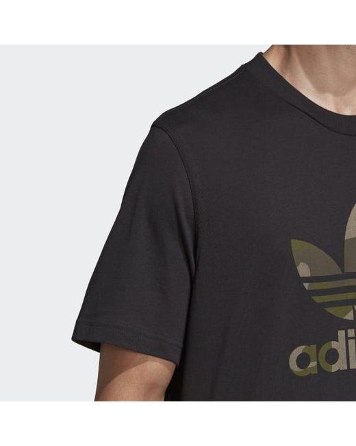 buy popular d8ef6 89dce ... Adidas - Black Camouflage Trefoil Tee for Men - Lyst