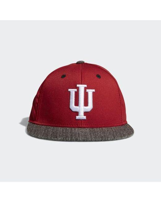 57f5bdbba29 Adidas - Red Hoosiers Flat Brim Hat for Men - Lyst ...