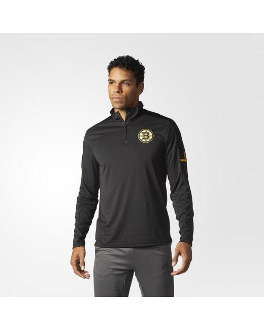 Adidas - Black Bruins Authentic Pro Jacket for Men - Lyst