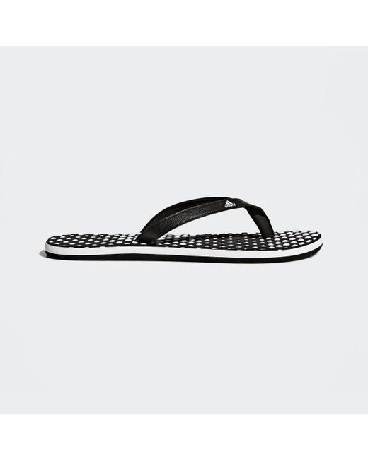 the latest 44710 dfc63 Adidas - White Eezay Dots Flip-flops - Lyst ...