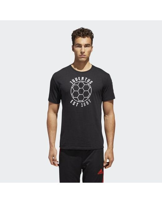 Adidas - Black Juventus Football Club Linear Icon Tee for Men - Lyst