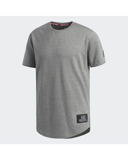 e31589e7df4 ... Adidas - Gray Usa Volleyball Crazyflight Tee for Men - Lyst ...