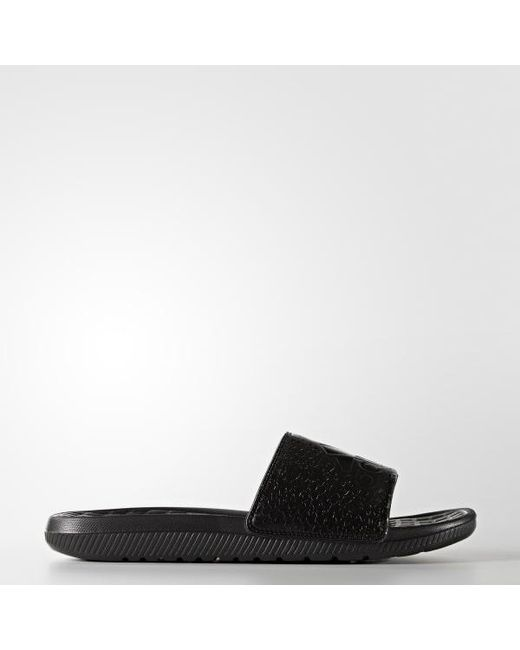 e5dc44f06a8bc Adidas - Black Voloomix Graphic Slides for Men - Lyst ...