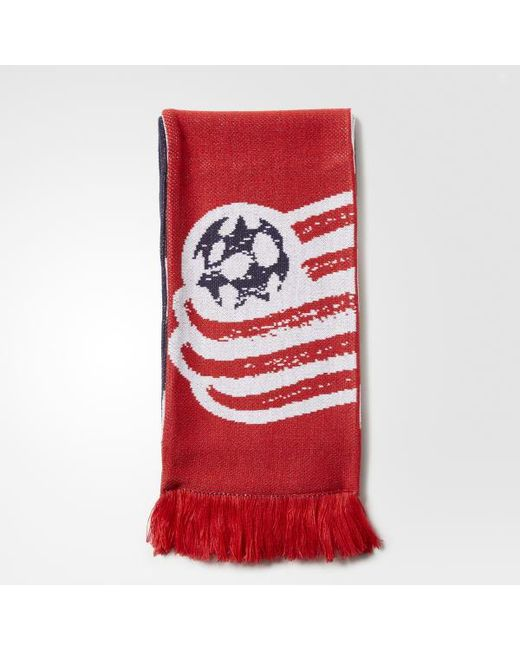 Adidas - Red New England Revolution Jacquard Scarf for Men - Lyst
