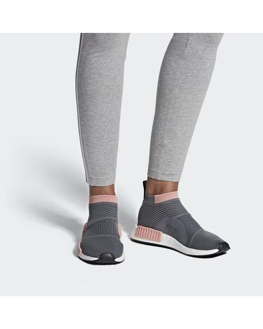 huge discount 5e6a4 65c7f ... Adidas - Gray Nmd cs1 Primeknit Shoes - Lyst ...