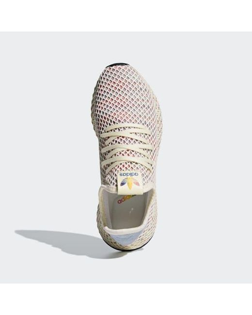 new concept 00901 7430a ... Adidas - White Deerupt Pride Shoes for Men - Lyst ...