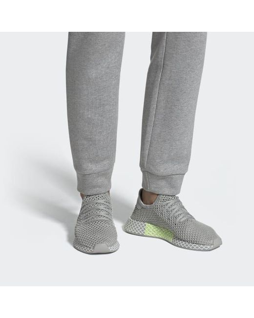 buy popular 1e5ec d561f ... Adidas - Gray Deerupt Runner Shoes - Lyst ...