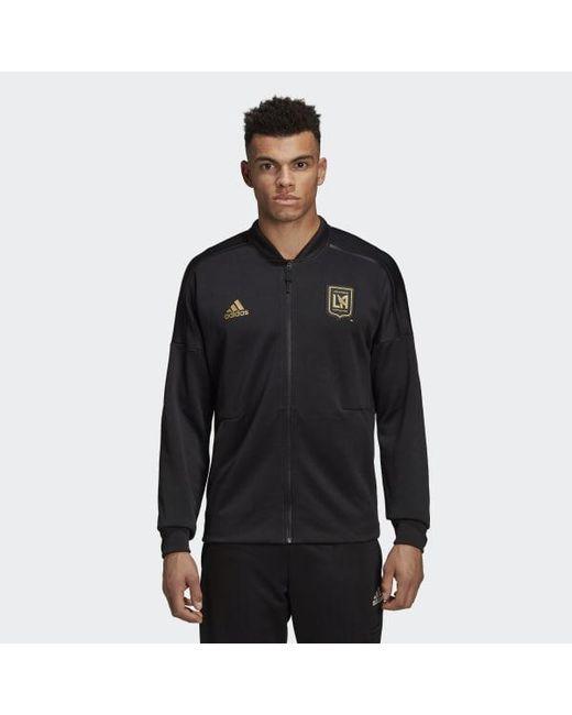 Adidas - Black Los Angeles Football Club Z.n.e. Jacket for Men - Lyst