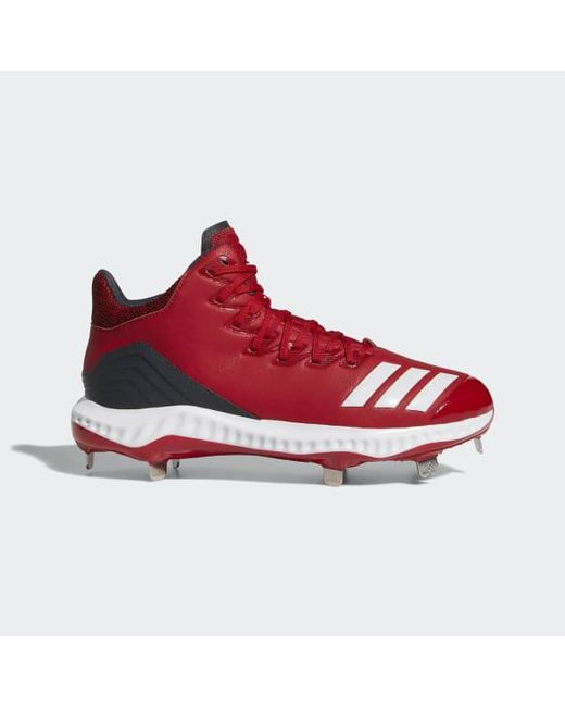 new arrival b66ed 9dd74 Adidas - Red Icon Bounce Mid Cleats for Men - Lyst ...