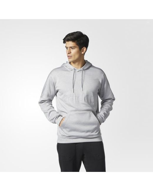 Adidas - Gray Team Issue Pullover Hoodie for Men - Lyst
