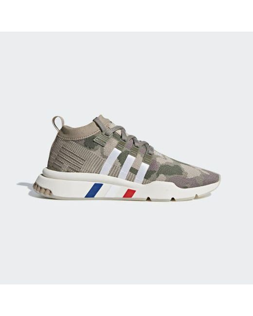 super popular b7a2c dba43 ... Adidas - Green Eqt Support Mid Adv Primeknit Shoes - Lyst ... best  place ...