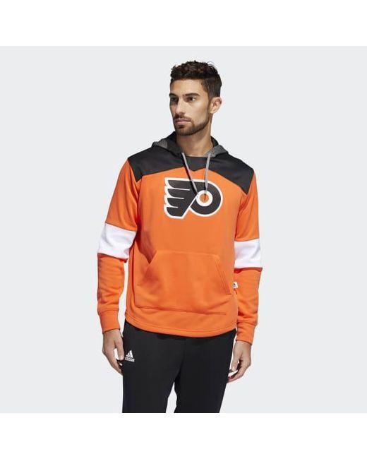 Adidas - Orange Flyers Platinum Jersey Hoodie for Men - Lyst
