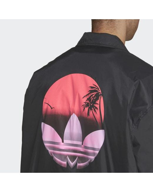 260869769 ... Adidas - Black Tropical Coach Jacket for Men - Lyst