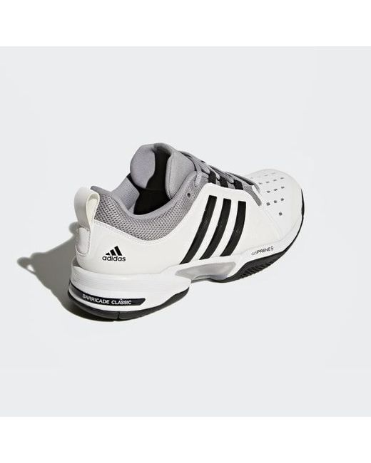 new style cfac2 c5182 ... Adidas - White Barricade Classic Wide 4e Shoes for Men - Lyst ...