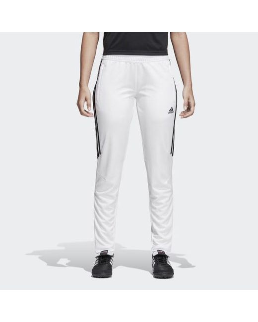 Men's White Tiro 17 Training Pants