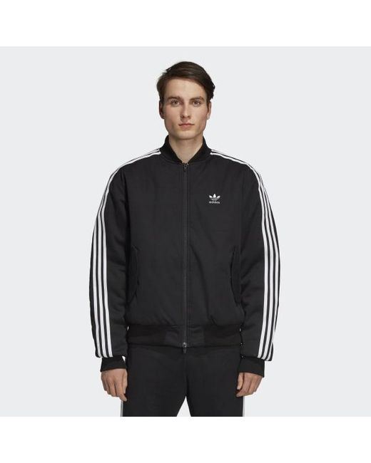Lyst Adidas Bomber Jacket In Black For Men