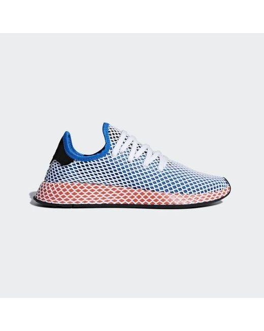 cheap for discount 3d8cb dd481 Adidas - Blue Deerupt Runner Shoes - Lyst ...